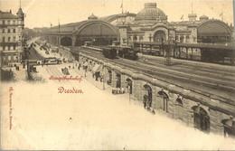 10869 CPA Dresden - Hauptbahnhof - Dresden