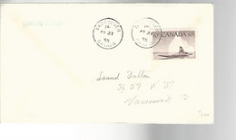 52211 ) Canada First Day Cover Vancouver Postmark 1955 - 1952-1960