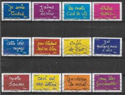 2011 FRANCE Adhesif 609-10 Oblitérés, Ben,  Série Complète - Adhésifs (autocollants)