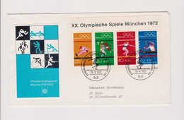 GERMANY 1972 OLYMPIC GAMES Nice Cover Bonn - Lettres & Documents