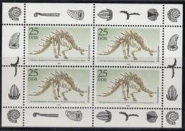 DDR 3325, Kleinbogen, Postfrisch **, Naturkundemuseum 1990 - Bloques