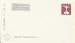 BERLIN  -  25 Pf. Stadtbilder  Lilienthal Denkmal  -  PAN AMERICAN London-F/M-Tokyo   -  Privatumschlag   PU19 / 18a - Privatumschläge - Ungebraucht