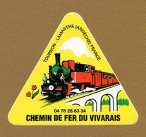 """TOURNON - LAMASTRE (07) : """" CHEMIN DE FER DU VIVARAIS """" - Stickers"""
