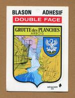 GROTTES DES PLANCHES  (39)  : ECUSSON BLASON ADHESIF - Stickers