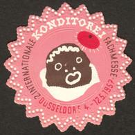 """Düsseldorf 1957 """" 2.Internationale KONDITOREI Fachmesse Bild: Mohrenkopf """" Vignette Cinderella Reklamemarke - Cinderellas"""