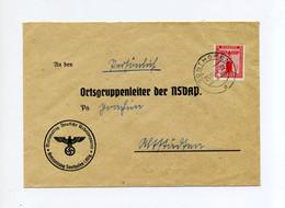 1941 3. Reich Dienststellenbrief NSDAP Kreisleitung Sonthofen Mit 12 Pfg  D 150  An Den Ortsgruppenleiter In  Altstädten - Briefe U. Dokumente