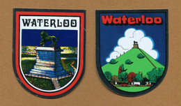 WATERLOO  : ECUSSON BLASON ADHESIF - Stickers