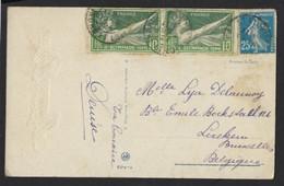 SPORT OLYMPISME * FRANCE N°183 , 8è OLYMPIADE 1924 , SALUT OLYMPIQUE * SAINT FLOVIER 1924 * NORE ET LOIRE - Estate 1924: Paris