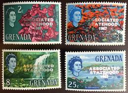 Grenada 1967 Associated Statehood 1967 Overprint Set Trees MNH - Grenada (...-1974)