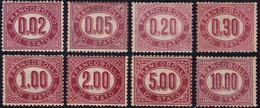 ✔️ Italien 1875 - Dienstmarken Komplet. - Mi. 1/8 MH * - €200 - Service