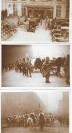 Funérailles Du Maréchal Foch, 29 Mars 1929 (Spahis, Général Pershing, Caviglia) Lot De 3 Cartes Non Circulées - Funeral