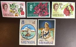 Grenada 1967 Expo '67 Montreal Overprint Set Trees Plants MNH - Grenada (...-1974)