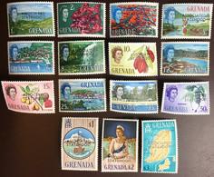 Grenada 1967 Associated Statehood Definitives Overprint Set Trees Plants MNH - Grenada (...-1974)