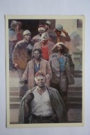 """COAL MINER In Art """"Warriors Of Donbass"""" By Akhvlediani - Old USSR Postcard - Mine - Mines"""