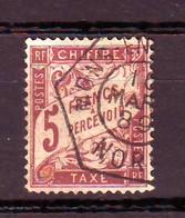 09/1 F TAXE N° 27  Pas De Clair Mais Une Dent Courte Cote 475 € - 1859-1955 Afgestempeld