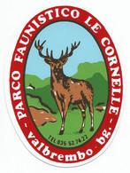CSTS265 - STICKER ADESIVO PARCO FAUNISTICO LE CORNELLE Di VALBREMBO - Stickers