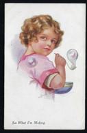 JOYCE AVERILL * LITTLE GIRL MAKING BUBBLES * A VIVIAN MANSELL & Cie * N° 1022 * 2 SCANS - Altre Illustrazioni