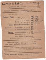 CARNET  DE  PAIN  FAMILIAL  N+ 41  COMMUNE DE PARIS  BOULANGER FOURNISSEUR   MOUSSET - Historical Documents