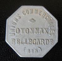 France - Jeton Monétaire 10c Octogonal - Unions Commerciales Oyonnax / Bellegarde - Poids : 1g - Monetary / Of Necessity