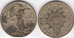 Medaille En Bronze Florentin EUROPA  1990 PROJET Par J Mauviel Et P. Rodier.  FDC - Autres