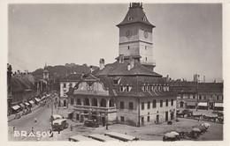 BRASOV : PIATA SFATULUI / THE CITY HALL SQUARE And MARKET - CARTE VRAIE PHOTO / REAL PHOTO POSTCARD ~ 1935 - '40 (ah858) - Romania