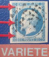 R1311/130 - NAPOLEON III N°14B - LUXE - GROS POINTS CARRES - VARIETE ➤➤➤ Pliures En Accordéon - 1853-1860 Napoleon III