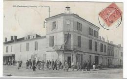 33 GIRONDE PODENSAC MAIRIE 1906   ANIMATION  JOLI PLAN - Altri Comuni