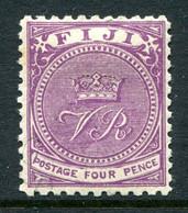 Fiji 1878-99 VR Monogram - P.11 X 11¾ - 4d Bright Purple HM (SG 58) - Fiji (...-1970)