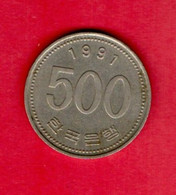 SOUTH KOREA, 1991, 500 Won, Copper Nickel, KM27, C3771 - Korea, South