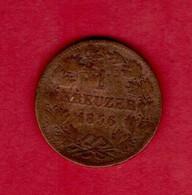 GERMANY-BADEN, 1856,  1 Kreuzer,  Friedrich,  C3762 - Sonstige