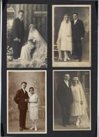 7 CARTE PHOTOS ANCIENNES * MARIAGES * COUPLES * 7 FOTOKAARTEN * HUWELIJK KOPPELS * MARIAGE COUPLES * OLD PHOTOCARDS - Persone Anonimi