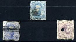 España Nº 119, 124S, 127T. Año 1872 - Gebraucht