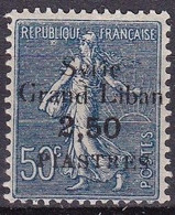 CF-SY-11 – FRENCH COLONIES – SYRIA – 1922 - OVERPRINT VARIETY - SG 96e MNH - Unused Stamps