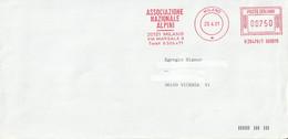Affrancature Meccaniche Rosse (EMA) - Milano '91 - Associazione Nazionale Alpini - - Machine Stamps (ATM)