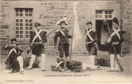 CPA AK Saint Brieuc Costumes Militaires FRANCE (1137141) - Saint-Brieuc