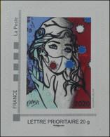 Marianne Masquée, 2020, Rare. - Adhesive Stamps