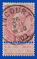 "COB N° 58 - Belle Oblitération "" INCOURT"" - 1893-1800 Fijne Baard"