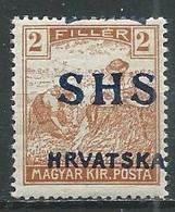Yougoslavie Royaume Des Serbes, Croates & Slovènes YT N°8 Moissonneurs Surchargé SHS Hrvatska Neuf ** - Nuovi