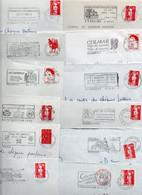 Lot De 50 Lettres Pour Flammes Sur Enveloppes Complètes - Possibilité De Réduire La Dimension De La Flamme - Annullamenti Meccanici (pubblicitari)