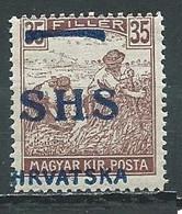 Yougoslavie Royaume Des Serbes, Croates & Slovènes YT N°17 Moissonneurs Surchargé SHS Hrvatska Neuf ** - Nuovi