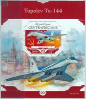 A1528 - CENTRAL AFRICA - Error, 2019, MISPERF SOUVENIR SHEET: Concorde, Airplanes - Avions