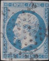 France   .   Y&T   .    15 (2 Scans)   .   O   .      Oblitéré    .   /   .   Cancelled - 1853-1860 Napoleon III