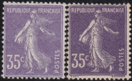 France   .   Y&T   .    136+136a (2 Scans)   .   *  .    Neuf Avec Gomme Et Charnière  .   /   .  Mint-hinged - Ongebruikt