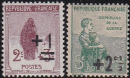 France   .   Y&T   .    162/163    .   *  .    Neuf Avec Gomme Et Charnière  .   /   .  Mint-hinged - Ongebruikt