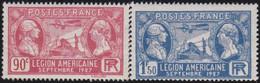 France   .   Y&T   .   244/245     .   **    .      Neuf  Avec Gomme Et  SANS Charnière     .   /   .  MNH - Ongebruikt