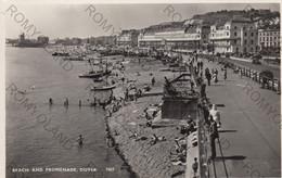 CARTOLINA  DOVER,KENT,INGHITERRA,REGNO UNITO,BEACH AND PROMENADE,VIAGGIATA 1964 - Dover