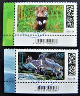 "Bund/BRD Juni 2021 Satz ""Tierbabys (XIII)"", MiNr 3608-3609, Ecke 3, Gestempelt - Used Stamps"