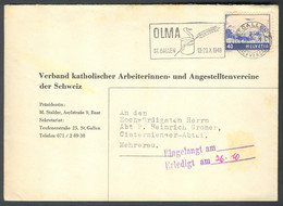 "Switzerland, 1949, ""OLMA St. Gallen 13-23.X.1949"" Commercial Mark Envelope - Sin Clasificación"