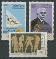 Laos 1994 100 Jahre Internationales Olympisches Komitee 1396/98 Postfrisch - Laos
