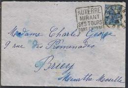 FRANCE - AUXERRE - YONNE / 1929 CACHET DAGUIN SUR LETTRE (ref 8498) - Brieven En Documenten